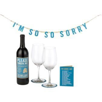 """""""I'm Sorry"""" party-for-two kit for those days when you're in the wrong. (From CB2)"""