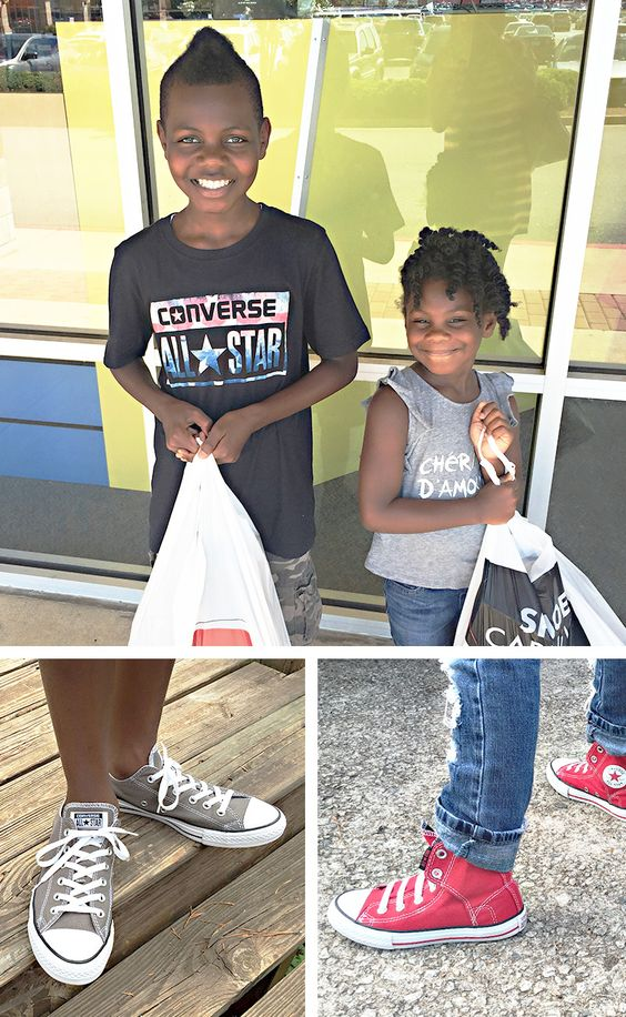 The best way to get the school year started: picking up a brand new pair of shoes. @Glossy picked out Converse styles for her little ones on a sponsored shopping trip.