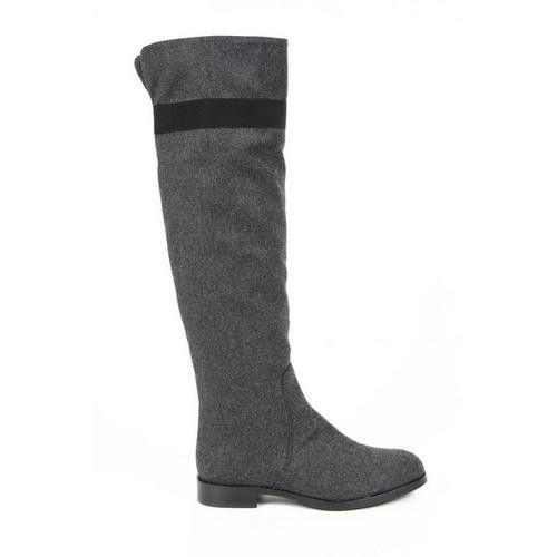 Versace 19.69 Abbigliamento Sportivo Milano ladies boots J05 TESSUTO GRIGIO