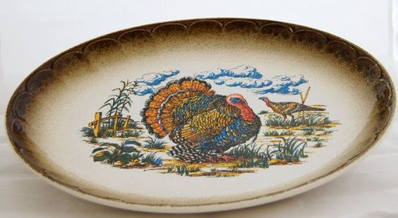 Turkey Platter Made in Italy | Vintage 195 Lefton Ceramic Turkey Platter by VintageHouseandHome, $30 ...