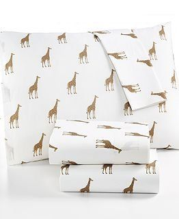 Amazon.com : Martha Stewart WHIM Collection 100% Cotton Sheet Set Size Twin Sparkley Giraffes : Bedding & Bath
