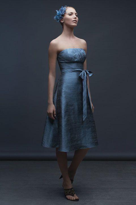 Amazing A-line natural waist taffeta dress for bridesmaid
