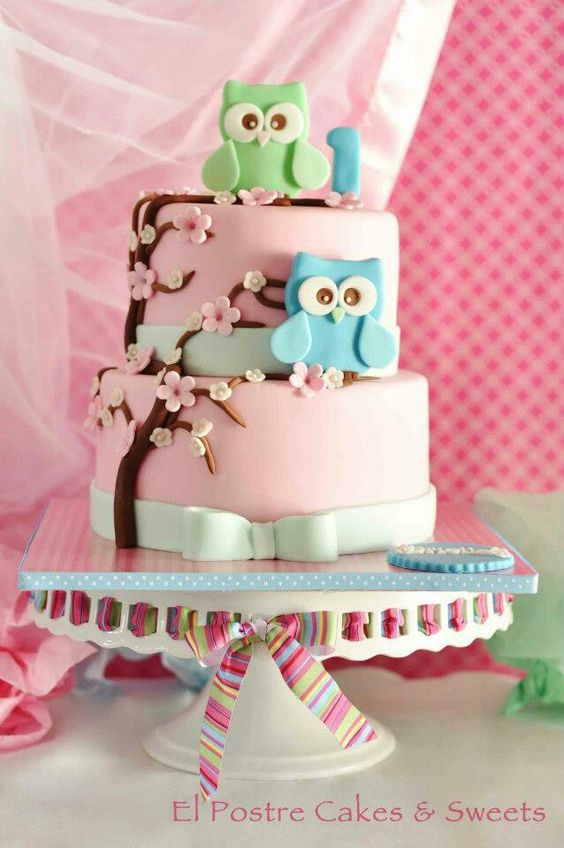 Images Of Cake For Niece : Owl cakes, Birthday cakes and The o jays on Pinterest