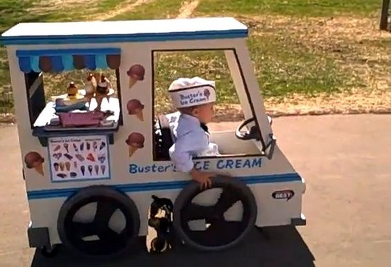Wheelchair Ice Cream truck - Buster the Ice Cream Man | I'm sad the videos don't work - but such a creative idea!