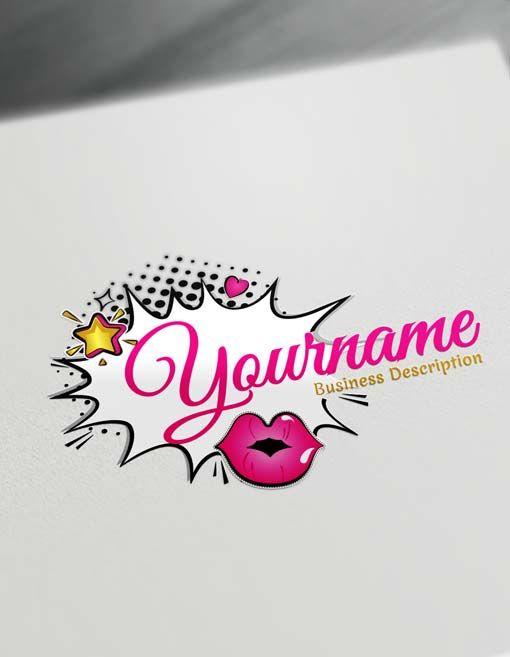 Make Online Retro Fashion Logo Designs Free Stylish Logos Logo Design Free Makeup Artist Logo Design Fashion Logo Design