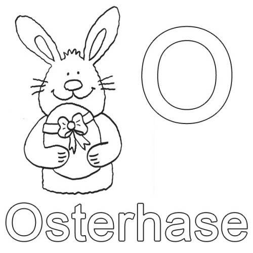 Buchstaben Lernen O Wie Osterhase Zum Ausmalen Buchstaben Lernen Tiere Zum Ausmalen Ausmalen