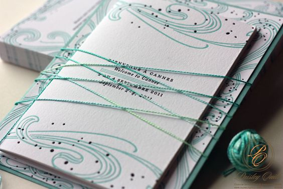 Paisley Quill: French Letterpress Invitations