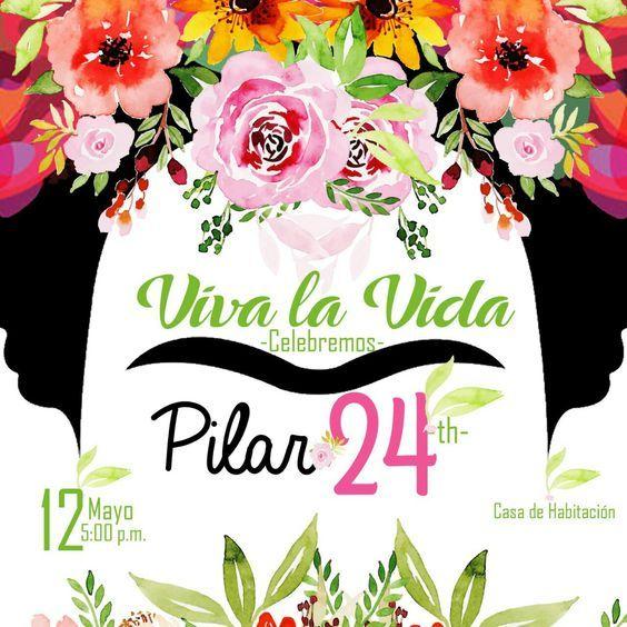 Tarjeta Invitación Fiesta Temática Frida Kahlo Temas