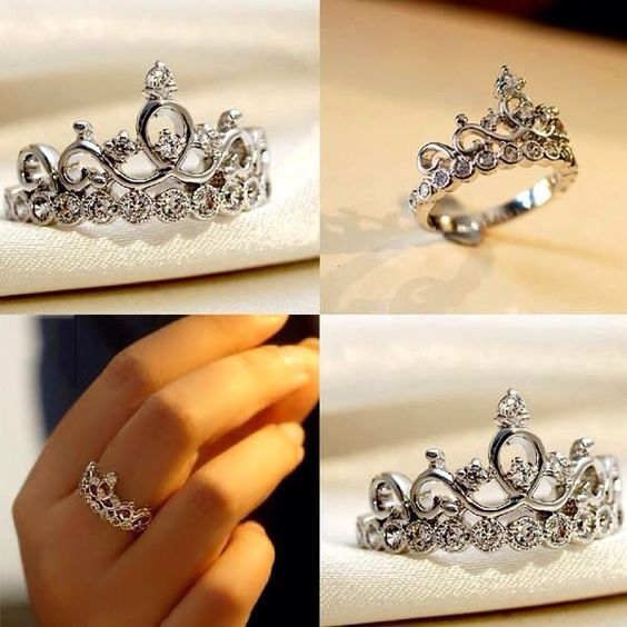 sterling silver princess crown promise ring http www