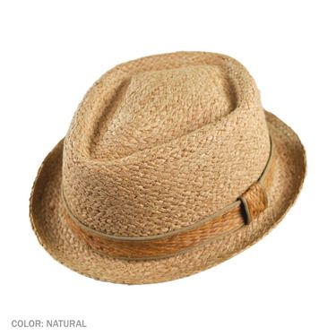 The Diamond Crown from Jaxon Hats is a phenomenal pork pie made of tough, durable raffia straw.