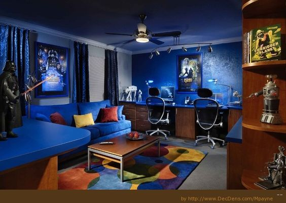 Spielzimmer, Gaming and Gamer Schlafzimmer on Pinterest