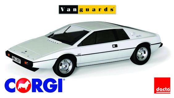#CORGI. Vanguards, serie de modelos de automóviles de fundido a presión a escala 1:43, que abarcan medio siglo de automovilismo. El Esprit 7805 / 0381G, el último S1, salió de la línea de producción de Hethel en Norfolk el 23 de mayo de 1978.