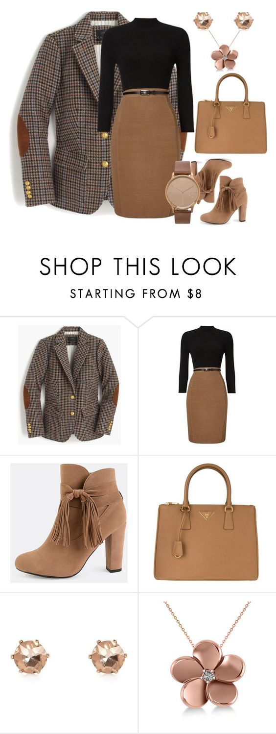 """Untitled #154"" by dollz-n-donz ❤ liked on Polyvore featuring J.Crew, Phase Eight, Prada, River Island, Allurez and Komono"