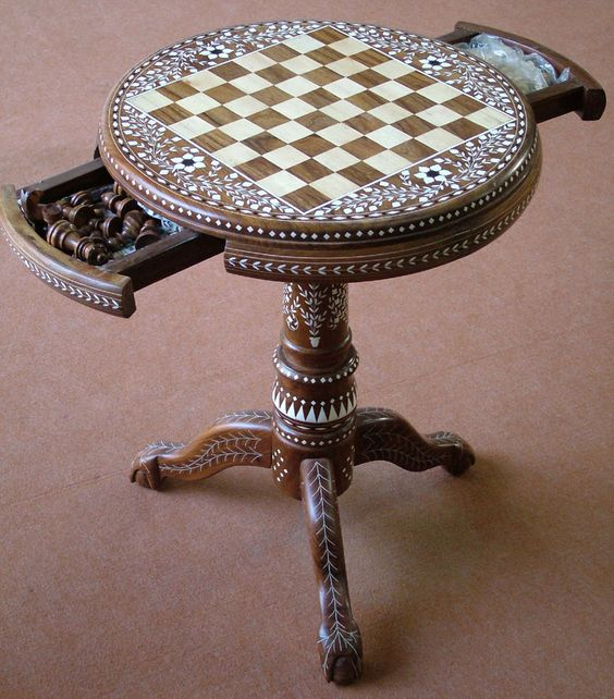 Chess Table Chess And Tables On Pinterest