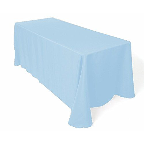 Rectangular Polyester Tablecloth 96 X 156 Inches By Add Ship Lt Blue Rectangle Tablecloth