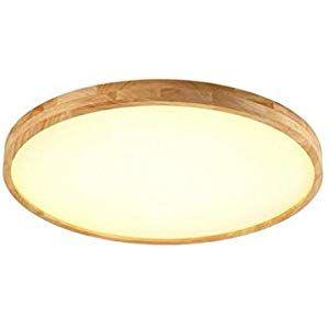 LED Deckenleuchte Dimmbar Holz Lampenschirm Schlafzimmer