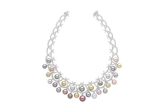 18ct white gold, diamond and 28 pearl necklace £POA by Yoko London, yokolondon.com