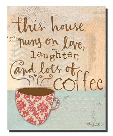 Love this 'This House Runs on Love' Wrapped Canvas on #zulily! #zulilyfinds
