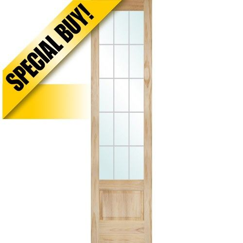 99 9311 8 0 Tall 15 Lite V Grooved 3 4 Lite Pine Interior Wood Door Slab Wood Doors Interior Cheap Interior Doors Doors Interior
