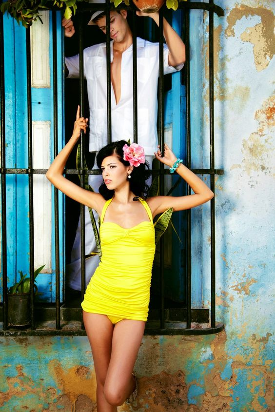 Nicolita - Salsa Shirred Bathing Suit