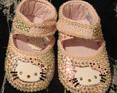 Hello Kitty 0 to 3 months Pram Shoes with Bling