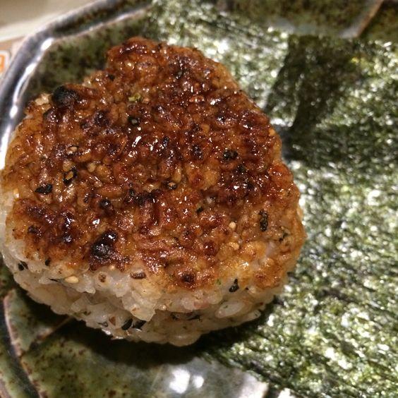 日式烤飯糰-炭樵