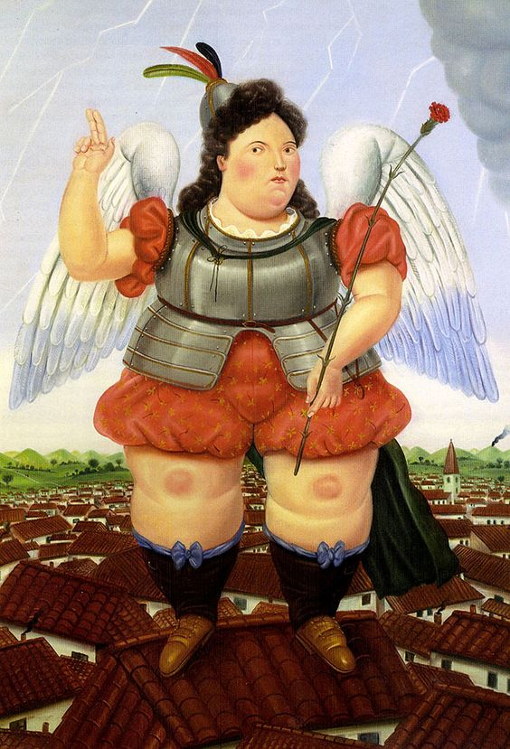 "Botero Fernando - Archange 1986 (from <a href=""http://www.oldpainters.org/picture.php?/47043/category/15820""></a>)"