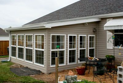 Sun room addition for the home pinterest the roof for Roof designs for additions
