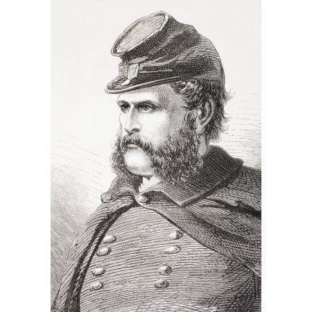 Ambrose Everett Burnside 1824- 1881 Union General In American Civil War From El Museo Universal Published Madrid 1862 Canvas Art - Ken Welsh Design Pics (24 x 34)