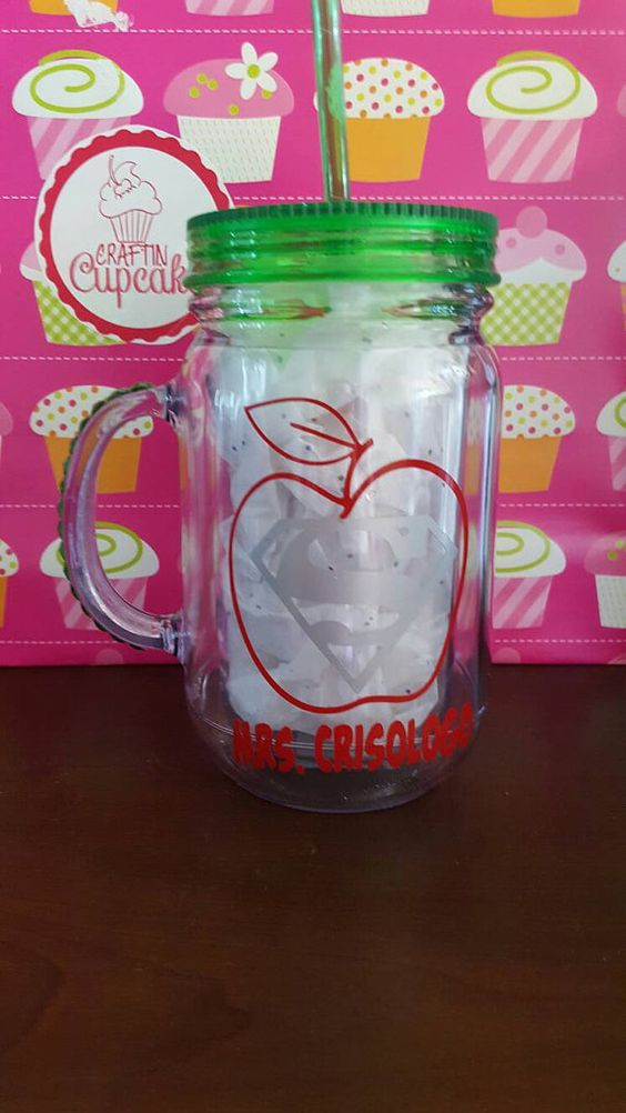 Check out this item in my Etsy shop https://www.etsy.com/listing/278541556/super-teacher-mason-jar-straw-cup-travel