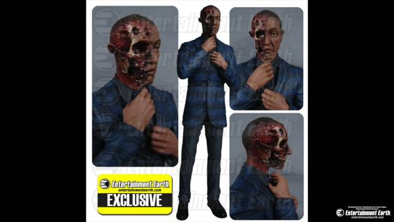 Breaking Bad Gus Fring Burned Face Action Figure - Entertainment Earth E... damn hugh fan of the series now because of this guy !!