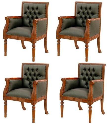 4 fauteuils chesterfield de bureau siege visiteur facon cuir vert chaises fauteuil pinterest. Black Bedroom Furniture Sets. Home Design Ideas