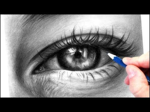 How To Draw A Realistic Eye With Graphite Pencils Realistic Drawing Tutorial Step By Step Youtube Realistic Drawings Realistic Eye Realistic Face Drawing