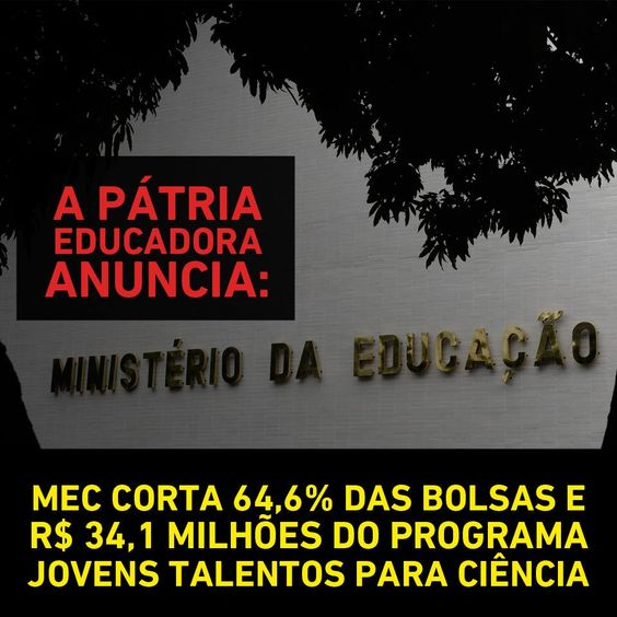 Post  #FALASÉRIO!  : Eles não querem povo educado! Povo educado não vot...