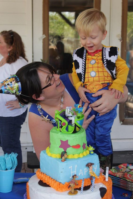 """Toy Story cake, A cake to remember! He still talks about """"his cake"""" when he plays with the toy story toys."""