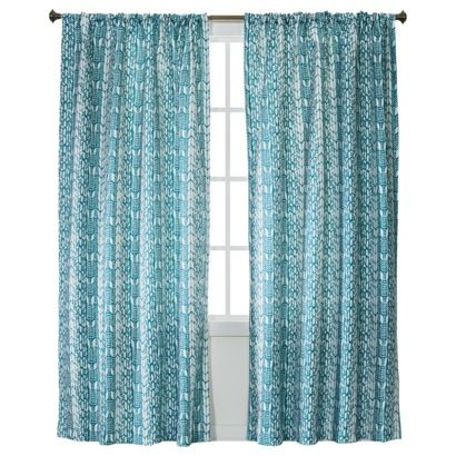 Xhilaration® Feather Chevron Window Panel - Turquoise (50x84)