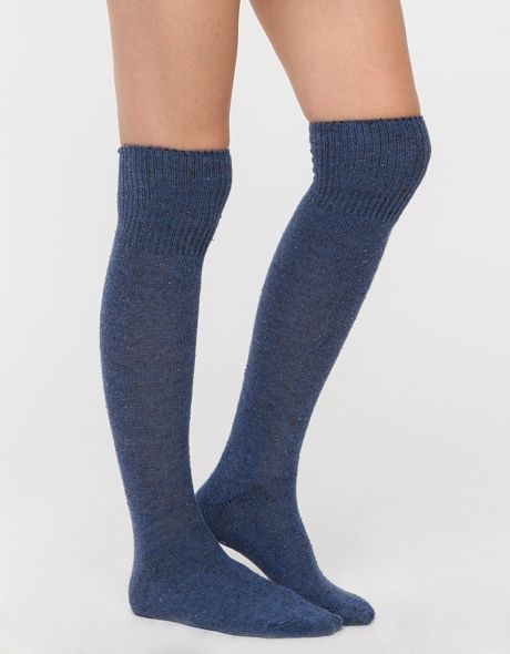 Cuffed Tweed Knee Hi