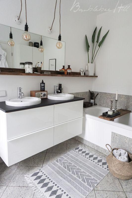 Ideen Furs Bad Gunstige Dekorationen Und Mehr Stauraum Badezimmer Ablage Badezimmer Bauernhaus Stil Wohnzimmer
