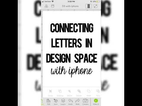 Connect Letters In Design Space With Iphone Ipad Featuring I Love