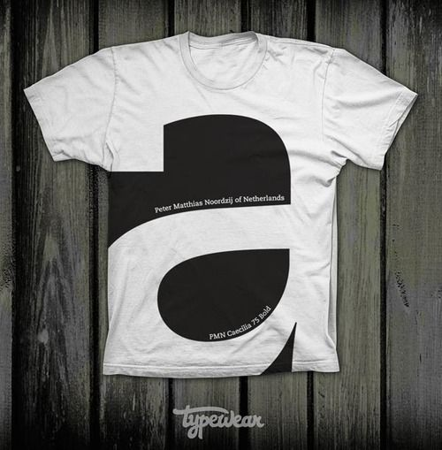 T-shirt design by Typewear