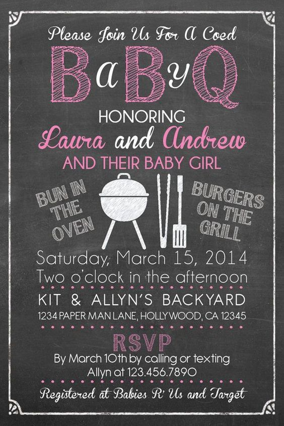baby shower coed baby shower invite baby shower themes baby q