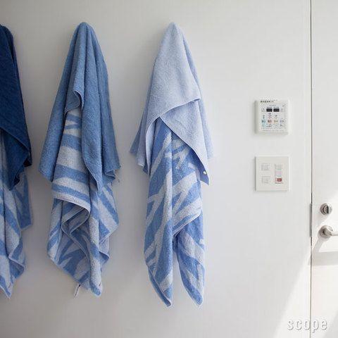 青いタオル良いね