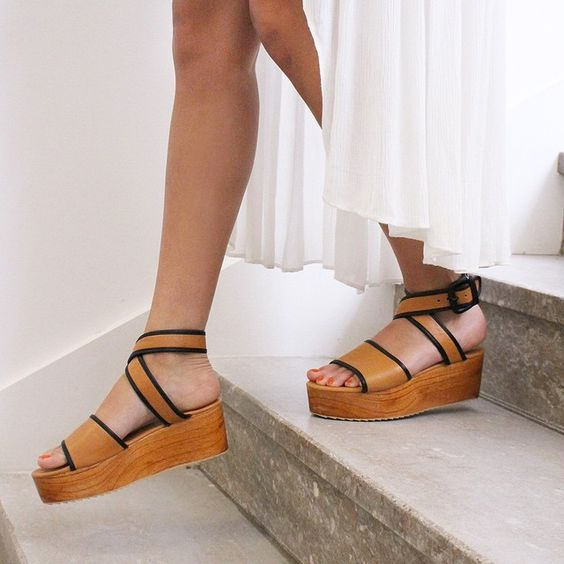 """Platforms are everything right now. Especially these wooden beauties 