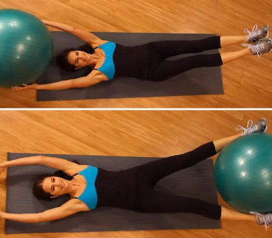 Ab Exercises Using a Ball