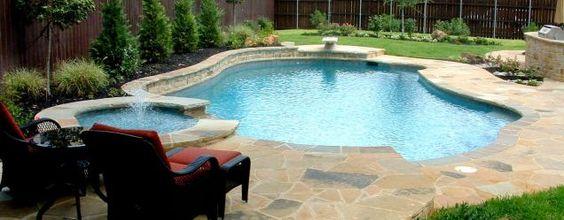 12 Raised Bond Beam Freeform Swimming Pool With Diving Area Southlake Texas Pool Ideas