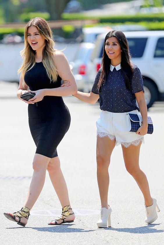 Kourtney and Khloé Kardashian rock breezy summer style in the Hamptons!