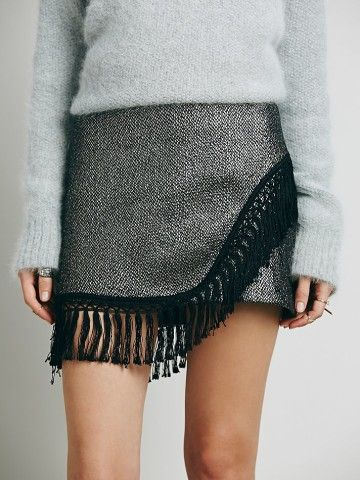 Rock 'n roll in this Free People Midnight Oil Skirt, On sale too!