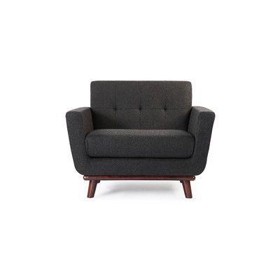 Kardiel Jackie Mid Century Modern Club Chair Color: Charcoal
