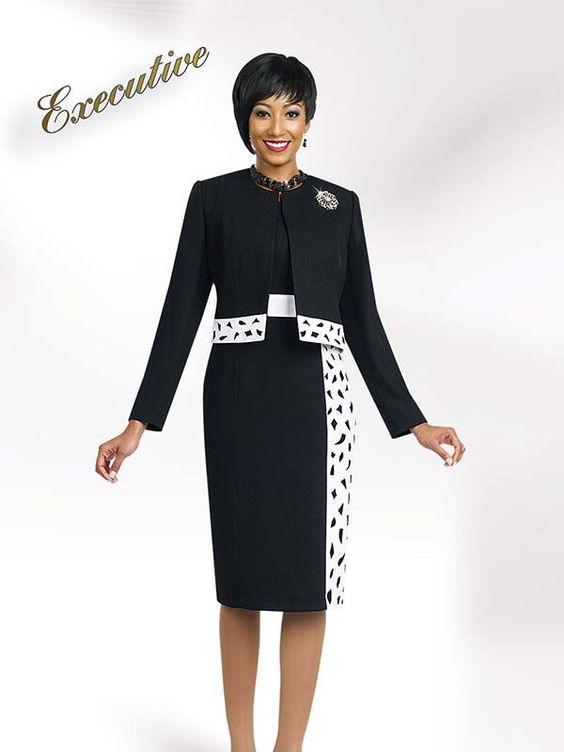 Ben Marc Executive 11468 Ladies Laser Cut Dress / Jacket Set