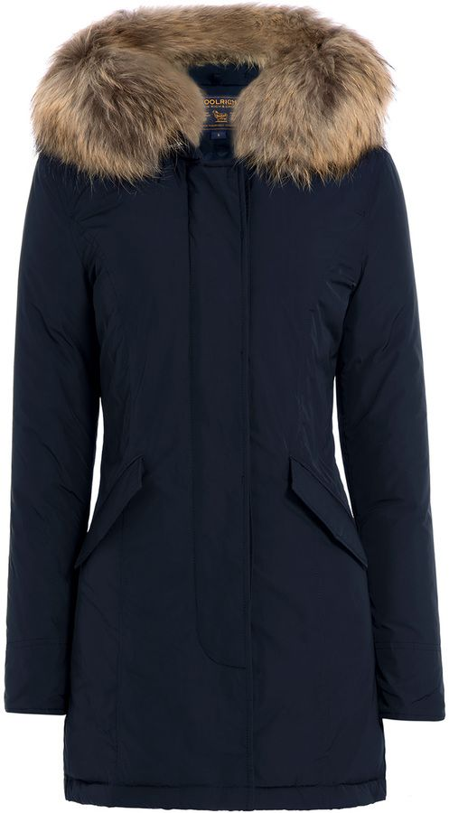 Woolrich Luxury Arctic Down Parka With Fur Trimmed Hood Parka Jacket Women Cold Weather Outfits Down Parka